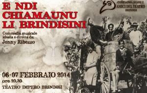 E ndi Chiamaunu li Brindisini:  6 e 7/2 al teatro Impero di Brindisi