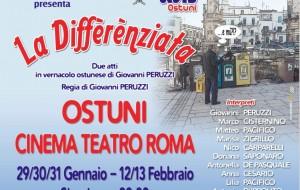 """Tutto pronto per """"La differenziata"""":  dal 29 al 31/1 Cinema Teatro Roma Ostuni"""