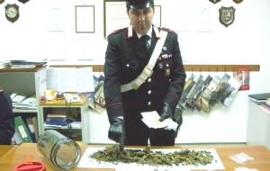 Possedeva 400 grammi di erba: arrestato 23enne