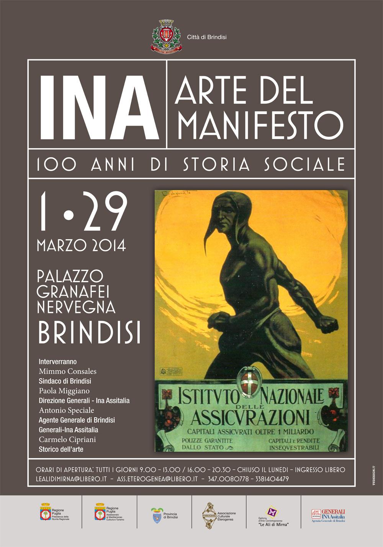 """Super Inaugurata la mostra """"INA – Arte del manifesto""""   Brindisi  RW26"""