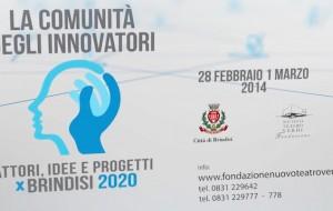 """Tutto pronto per la due giorni """"La comunità degli innovatori – Attori, Idee e Progetti per Brindisi 2020"""""""