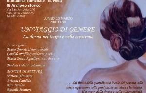 """Lunedì 10 a S. Pietro """"Un Viaggio di Genere. La donna nel tempo e nella creatività"""""""