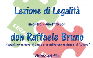 I tasselli della legalità: domani Don Raffaele Bruno all'ITT Giorgi di Brindisi