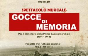 """Gocce di Memoria: lo spettacolo del """"Liceo Simone Durano"""" a Villa Castelli"""
