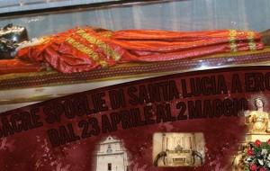 Da Venezia a Erchie il corpo di Santa Lucia per l'ostensione dal 23/4 al 2/5