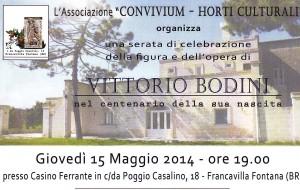 Domani a Francavilla una serata omaggio a Vittorio Bodini