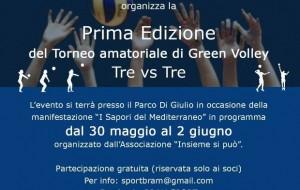I edizione del torneo amatoriale di green volley 3vs3