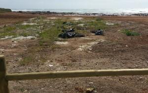 Fanghi da pozzo abbandonati a Punta del Serrone