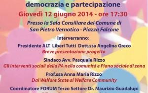 Welfare Community, democrazia e partecipazione: domani se ne discute a S. Pietro V.co