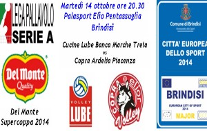 Supercoppa volley a Brindisi: infoticket