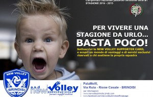 La New Volley Brindisi presenta la Supporter Card