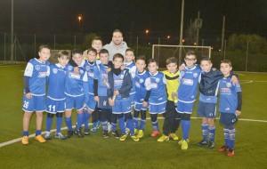 Hernan Molinari si allena con i ragazzi della Scuola Calcio