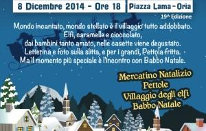 """Oria: si festeggia l'Immacolata con """"La Pettolata"""" ed il Villaggio degli Elfi"""