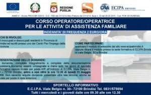 ECIPA Brindisi organizza corso di formazione per Assistente Familiare