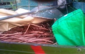 Sequestrati oltre tre quintali di rame rubati in contrada Restinco