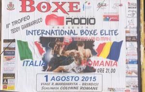 Boxe: Sabato Italia-Romania ai piedi delle Colonne Romane. Lunedì si replica a Torre Canne