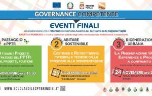 """Scuola Edile Brindisi: dal 24 al 27/11 gli eventi finali del percorso """"Governance Competente"""""""