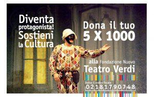 Dona il 5 per mille al Nuovo Teatro Verdi di Brindisi