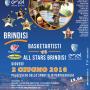BasketArtisti-All Stars Brindisi: in campo, tra gli altri, Calderari, Cordella, Giarletti, Natali, Parisi e Sardano