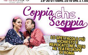 """""""Coppia che scoppia"""" apre la stagione del Teatro Kopó Brindisi"""