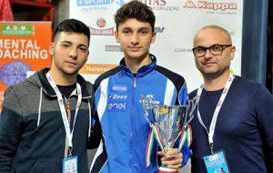 Pietro Rinaldi sul podio a Novara