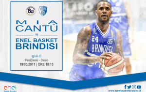 Cantù-Brindisi in diretta Tv su Canale 85 e streaming su newbasketbrindisi.it