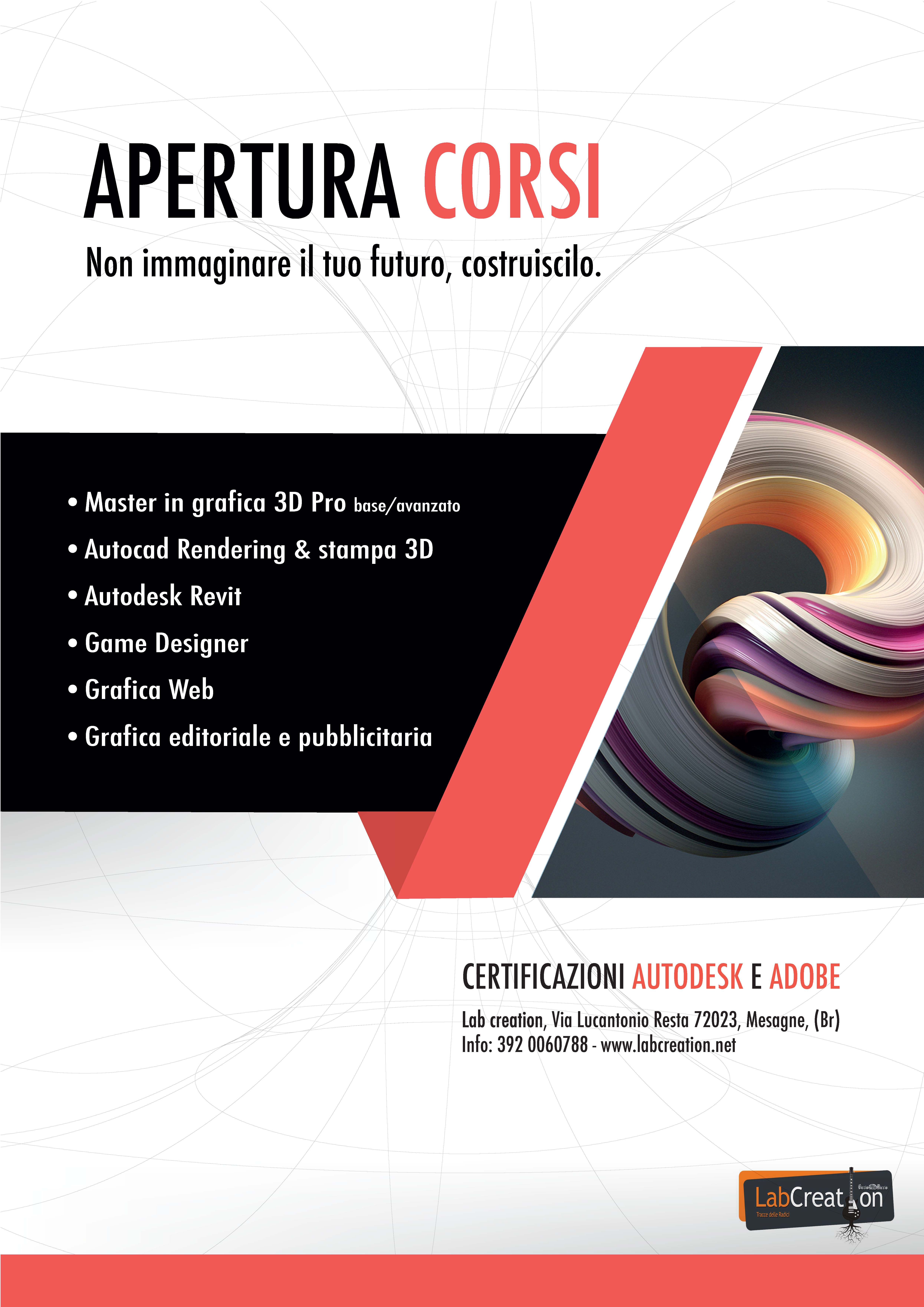 Al via i corsi di web design e grafica al lab creation di for Corsi di grafica pubblicitaria