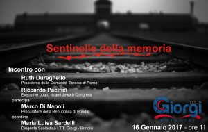 Giornata della Memoria: Dureghello e Pacifici al Giorgi di Brindisi