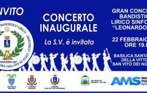 Mercoledì a San Vito concerto inaugurale del Gran Complesso Bandistico Leonardo Leo