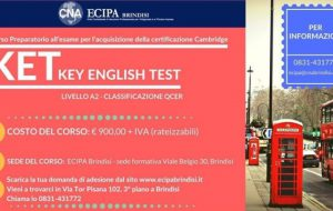 ECIPA-CNA organizza CORSO KET – Key English Test