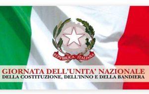 Giornata dell'Unità nazionale, della Costituzione, dell'Inno e della Bandiera: venerdì 17 cerimonia ufficiale in Piazza Santa Teresa