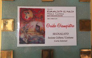 Premio Giornalistico Campione: un gradito riconoscimento per Guido Giampietro e Brundisium.net