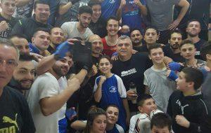 Grande entusiasmo al PalaMelfi per l'allenamento del pugile Giacobbe Fragomeni