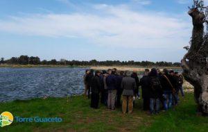 Gli agricoltori della Riserva in visita all'impianto per il riutilizzo delle acque reflue