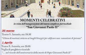"""Si inaugura a Mesagne il complesso parrocchiale """"S. Giovanni Paolo II"""""""