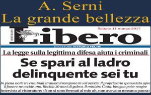 "Libero, sicurezza e libertà: A.Serni a Gabriele D'Amelj Melodia: ""ecco perché non mi piace"""
