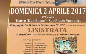 """Il Teatro delle Giaccure Stritte porta in scena """"Lisistrata"""" al Concorso Modugno di San Pietro Vernotivo"""