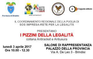 """Antiracket-Antiusura: il viceministro Bubbico a Brindisi per """"I Pizzini della Legalità"""""""