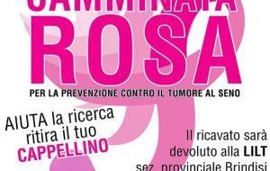"""A Ceglie la """"Camminata Rosa"""" a sostegno della ricerca sul tumore al seno."""