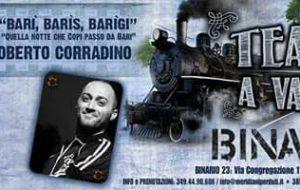 Teatri a Vapore ospita Roberto Corradino