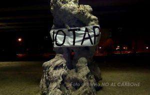 Movimento No TAP di Brindisi contro l'inizio dei lavori del gasdotto TAP/SNAM a Matagiola