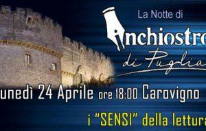 """Arriva il 24 aprile a Carovigno  """"La notte della Lettura"""" con Inchiostro di Puglia"""