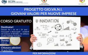 """Ecipa organizza il corso """"GIO.VA.N.I. – Giovani Valori per Nuove Imprese"""""""