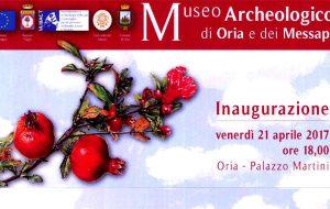 Venerdì 21 si inaugura il Museo Archeologico di Oria e dei Messapi