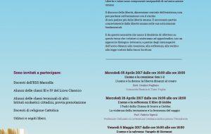 L'uomo e la libertà: da domani un ciclo di seminari culturali al Liceo Classico Marzolla