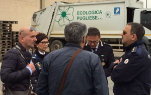 """Carella, neo assessore all'Ambiente, nei capannoni di """"Ecologica Pugliese"""""""