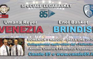 Venezia-Brindisi: collegamento speciale in diretta su Canale 85