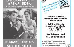 Con l'estate torna la programmazione dell'Arena Eden di Brindisi: tutti i film di luglio e agosto