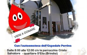 Domani donazione di sangue alla Parrocchia Cristo Salvatore (rione Sant'Elia)