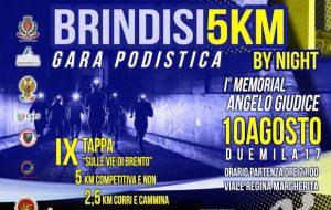 Oltre 500 partecipanti alla 5 km di corsa per le vie di Brindisi: start alle ore 21.00